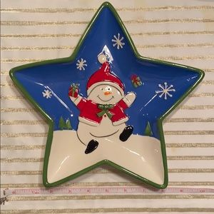 Other - Snowman Star Plate